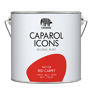 FINEST WALL PAINT MATT FINISH NO 118 RED CARPET 2,5L